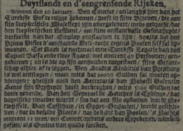 Oprechte Haerlemsche courant of Februari 6, 1672.